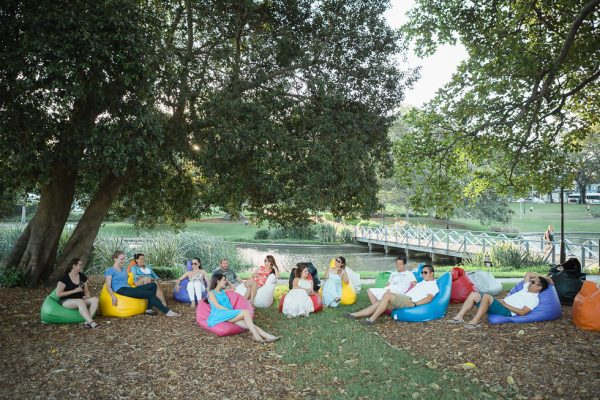 Comfortable Outdoor Bean Bag Hire for event