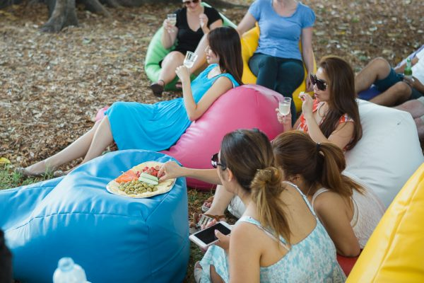 Outdoor Bean Bag Hire for kitty party