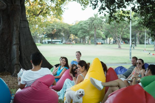 Outdoor Bean Bag Hire for Group event
