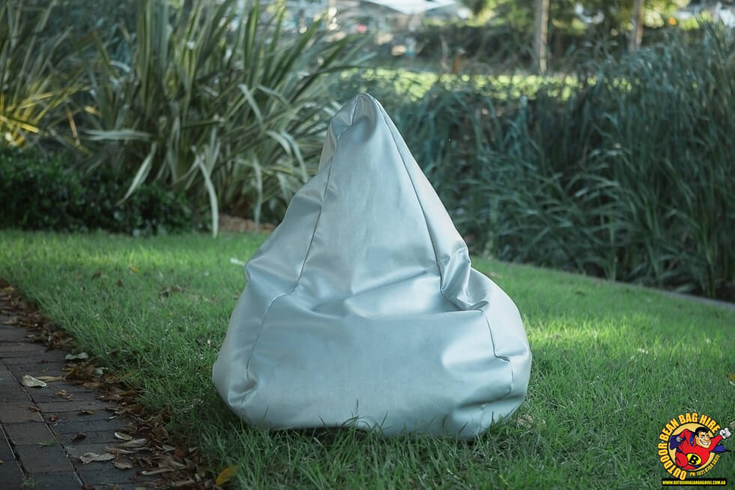 Bean Bag Hire Sydney - Silver Bean Bag
