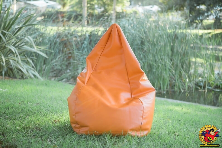 Bean Bag Hire Sydney - Orange Bean Bag