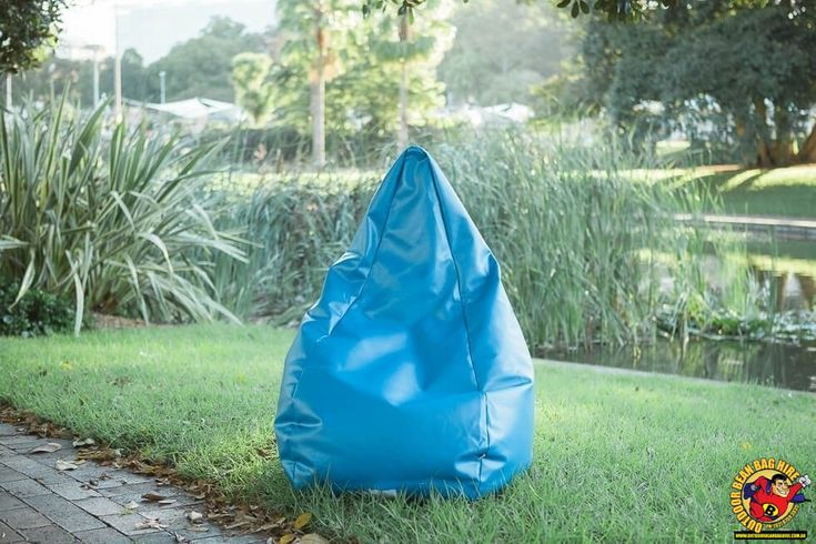 Bean Bag Hire Sydney - Blue Bean Bag